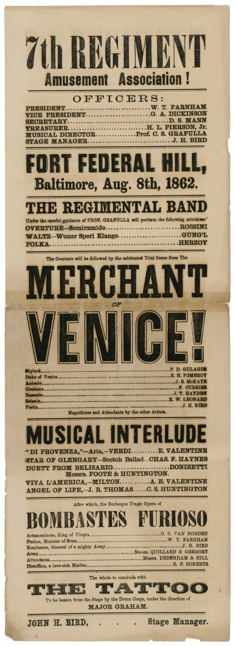 The Merchant of Venice Playbill
