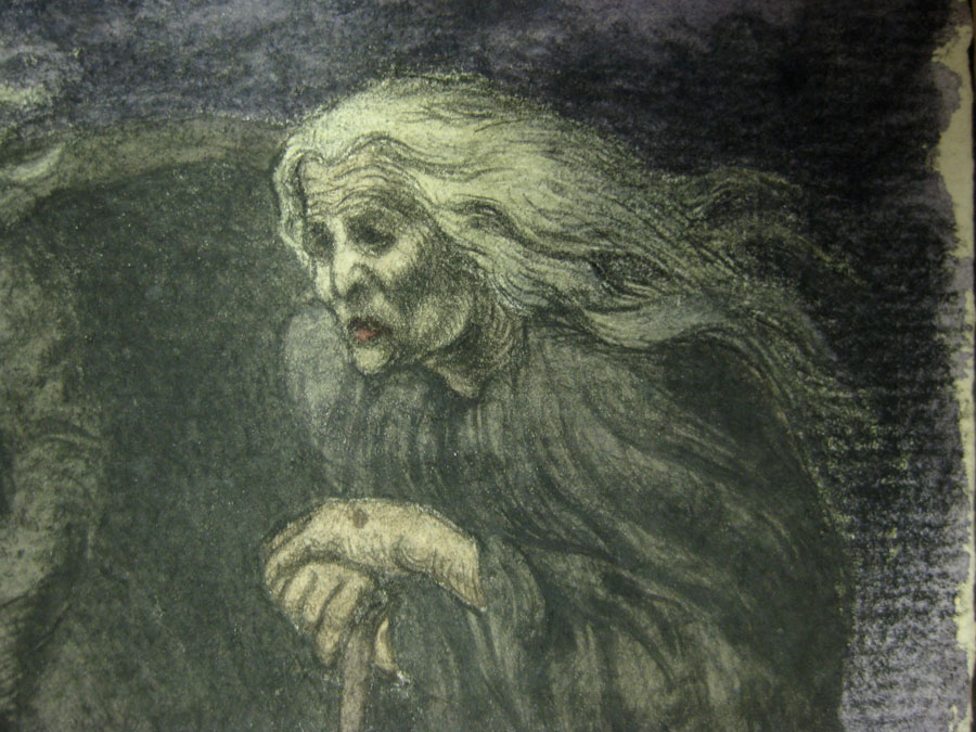Macbeth (1910) witch at far right closeup