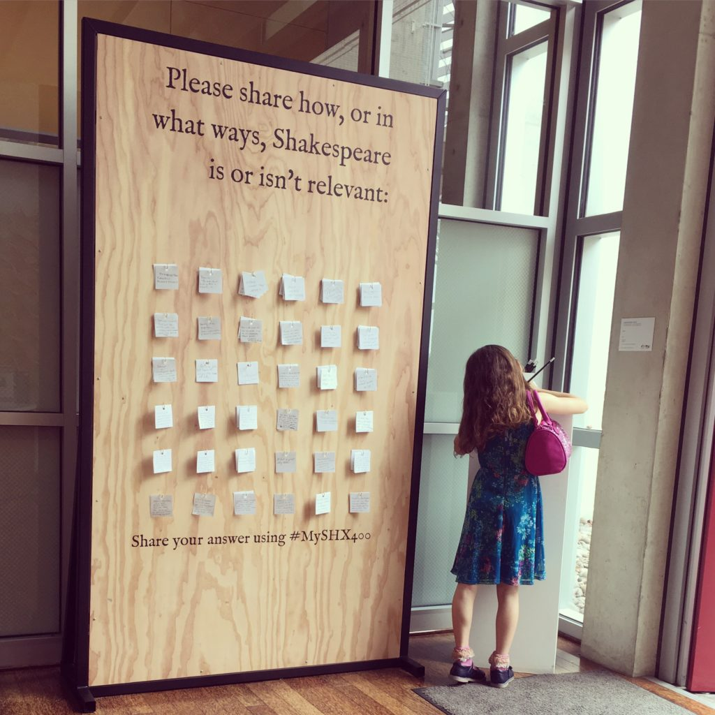 San Diego Public Library, wall of Shakespeare cards