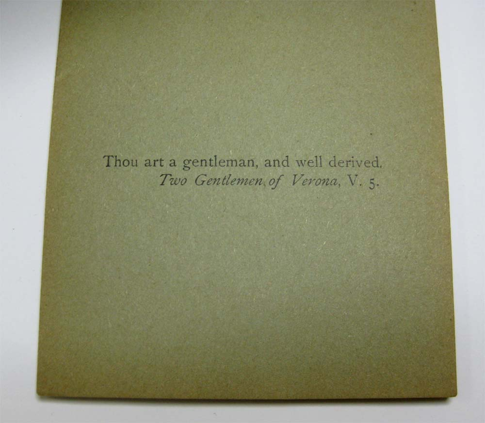 """Thou art a gentleman..."" (Sh.Misc. 1836). Folger Shakespeare Library."