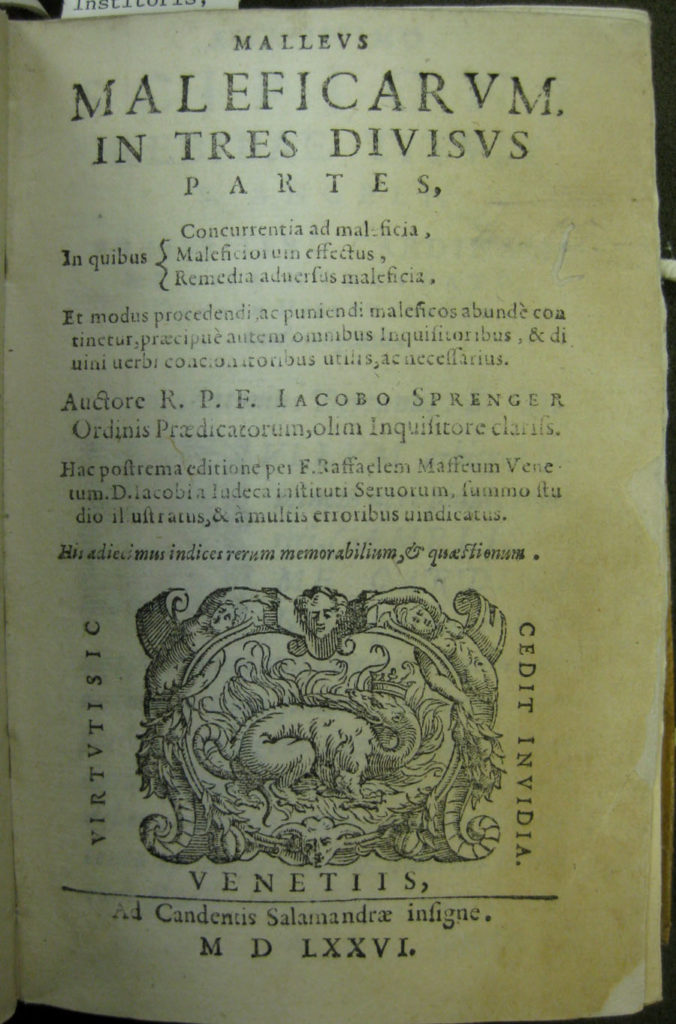 Malleus title page - a manual for hunting witches