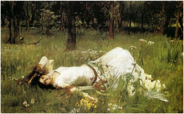 John William Waterhouse, Ophelia, 1889