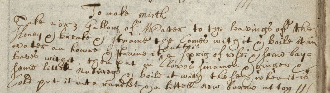 Recipe for mirth from the cookbook of L. Cromwell
