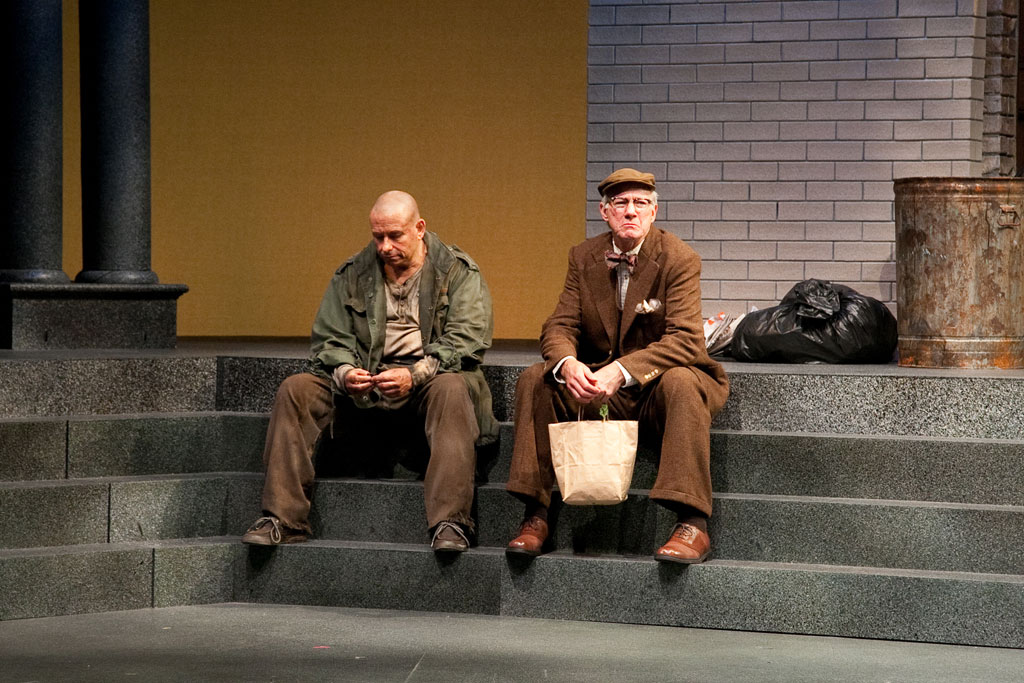 Anthony Cochrane (left) and Rodney Clark in Timon of Athens at Alabama Shakespeare Festival