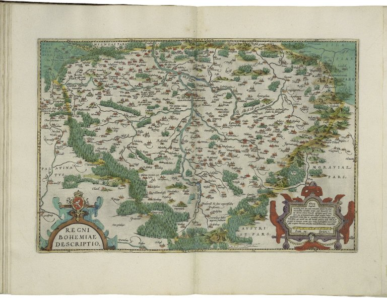 Map of Bohemia from Abraham Ortelius' Theatrum orbis terrarum (Theater of the World)