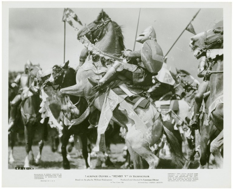 Photograph from Laurence Olivier's movie of Henry V