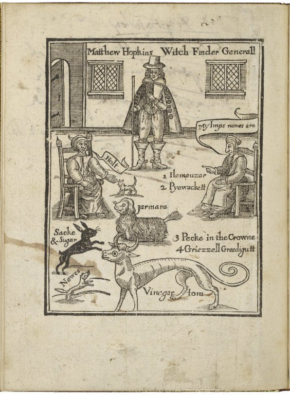 Matthew Hopkins. The discovery of vvitches.