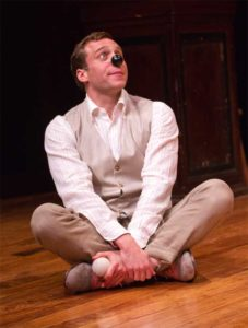 Zachary Fine in The Two Gentlemen of Verona. Costume design by Whitney Locher.