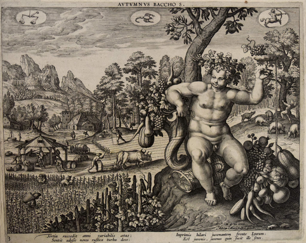 Autumnus. Adriaen Collaert. 1587. Folger Shakespeare Library.