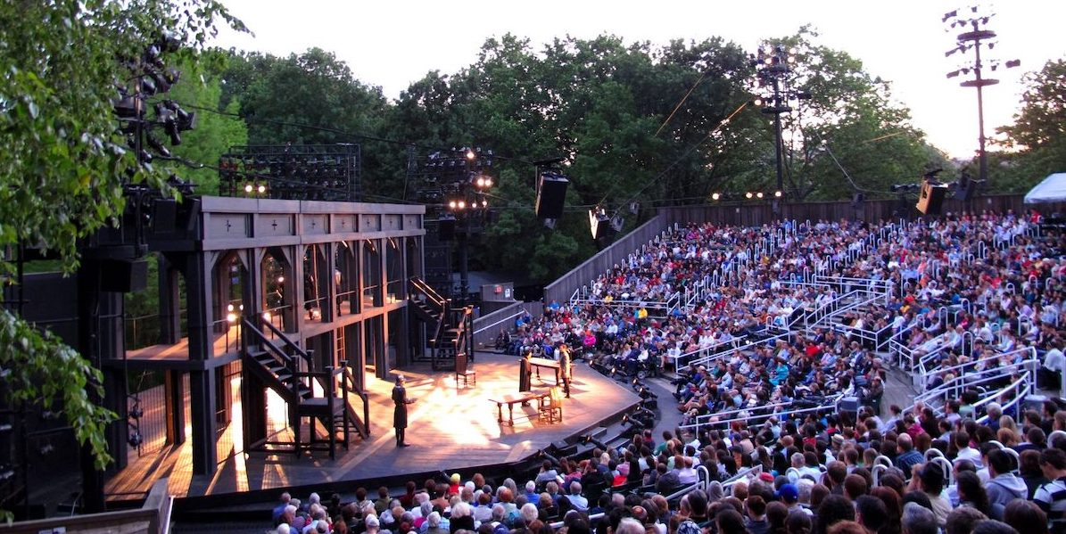 The Delacorte Theater in Central Park, home to The Public Theater's Shakespeare in the Park