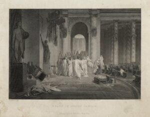 Death of Julius Caesar. As painted by Gerome. 1869. Folger Shakespeare Library.