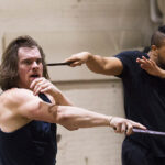 "Stephen Michael Spencer and Jordan Barbour, In rehearsals for ""Julius Caesar"" at Theatre for a New Audience."