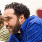 "Armando McClain, Cinna. In rehearsals for ""Julius Caesar"" at Theatre for a New Audience."