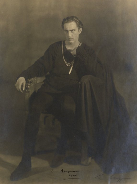 Photograph of John Barrymore as Hamlet