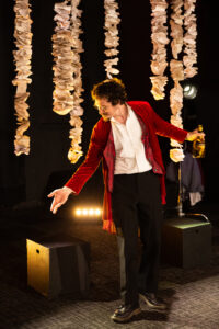 Ian Blackwell Rogers in As You Like It at Brave Spirits Theatre. Photo by Claire Kimball.
