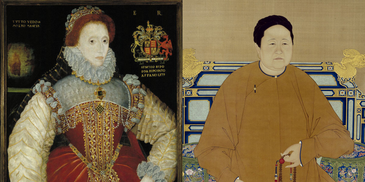 Portraits of Queen Elizabeth I and Empress Xiaozhuang