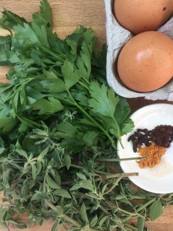 parsley and other ingredients