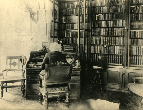 Frederick Douglass in his library at Cedar Hill