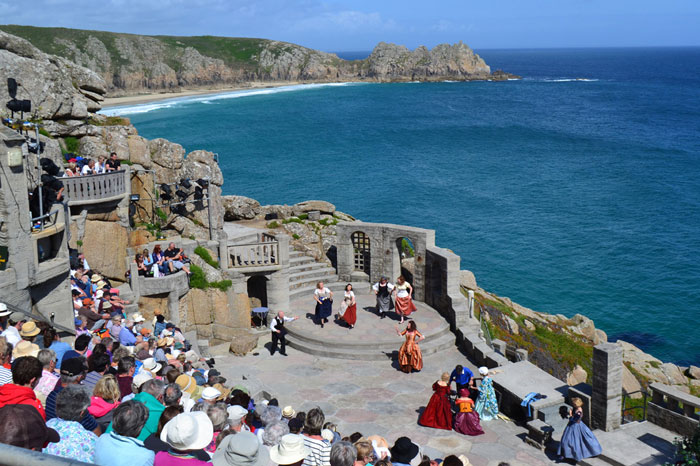 Outdoor performance at Minack Theatre