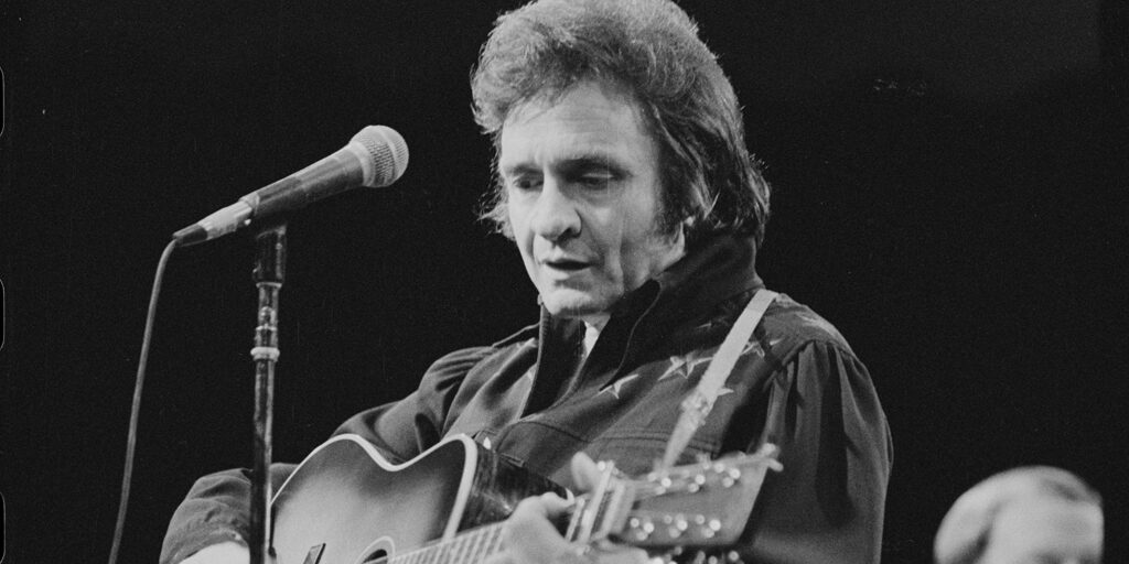 Johnny Cash performing