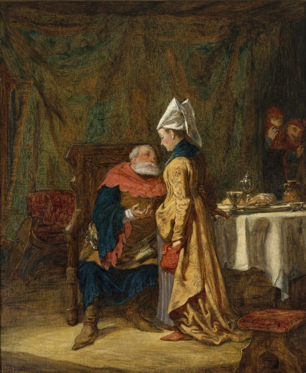 Painting of Sir John Falstaff and Mistress Quickly