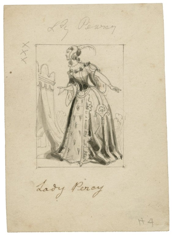 Lady Percy costume design