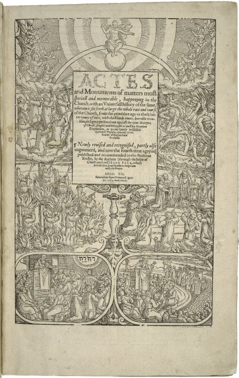 "Title page of John Foxe's ""Actes and monuments"""