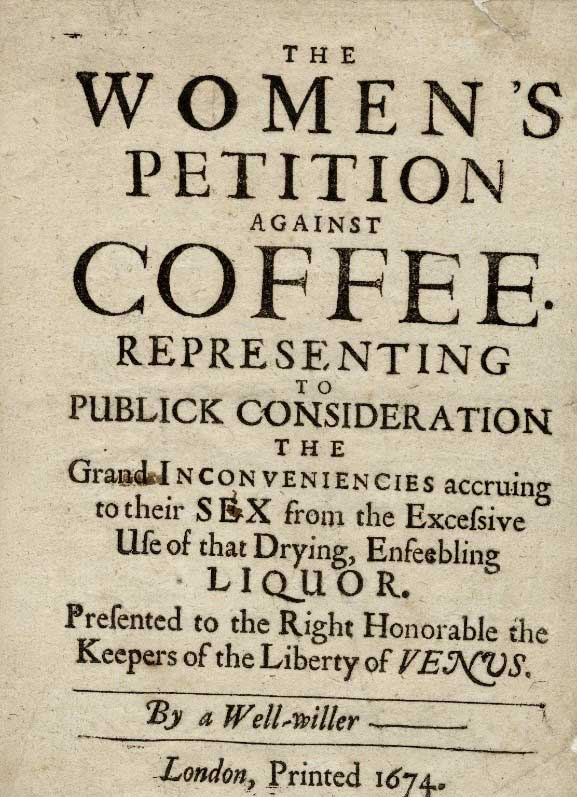 Pamphlet against coffee