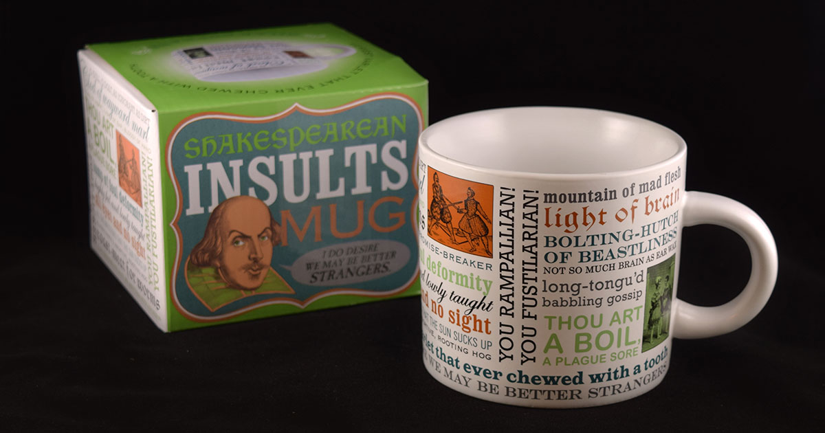Shakespeare insult mug