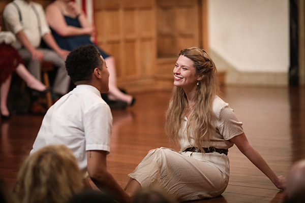 Production photo from Much Ado About Nothing