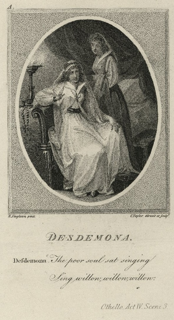 Desdemona singing the willow song