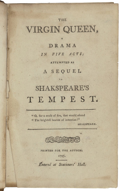 The virgin queen title page