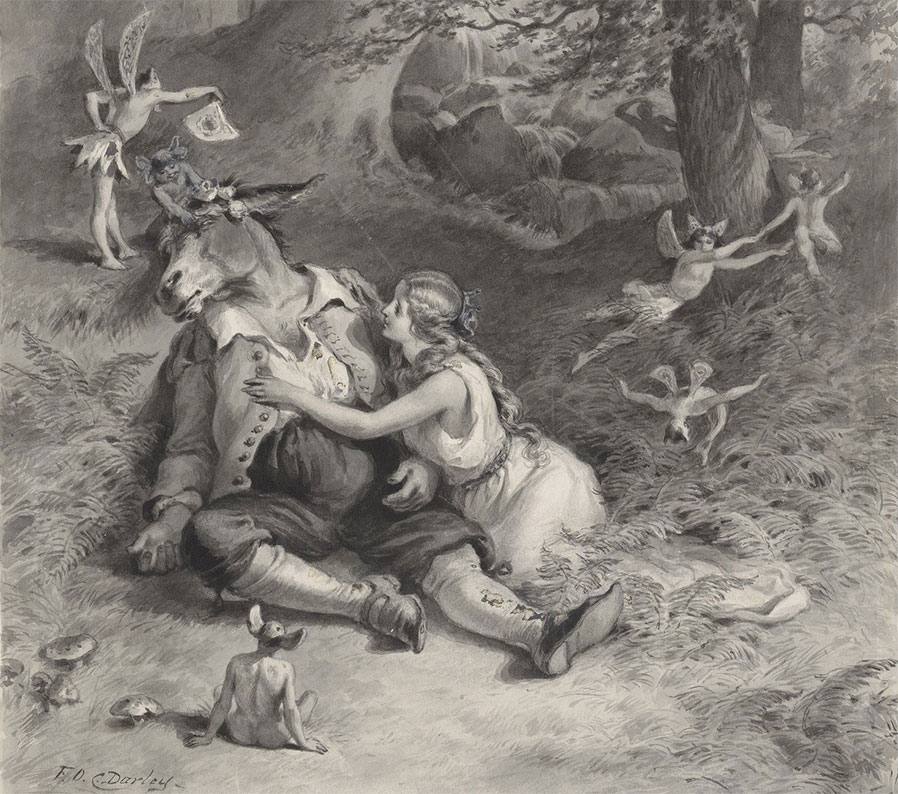 Bottom and Titania in A Midsummer Night's Dream
