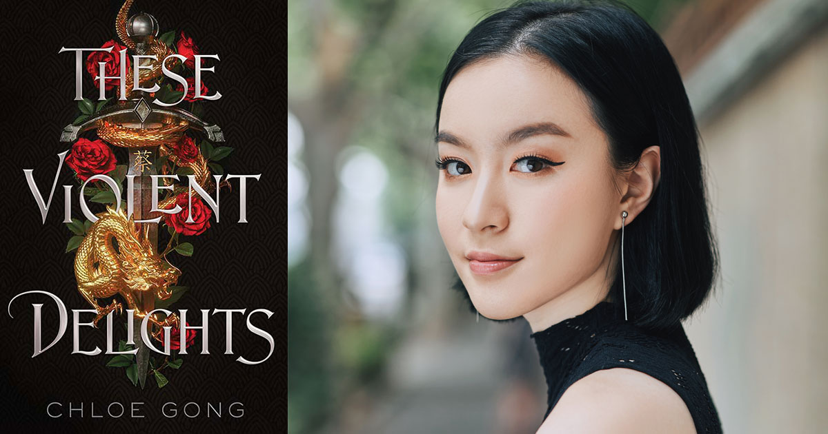 These Violent Delights and book cover and author photograph