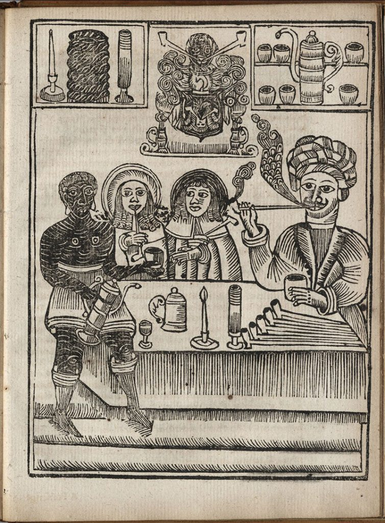 illustration with coffee and tobacco