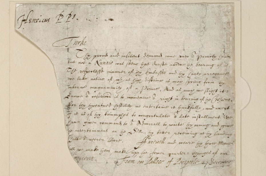 Letter from Henry, Prince of Purpoole to the Great Turk